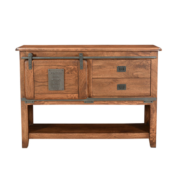 Jupiter Console Table, 2 drawer, 1 door (120 x 37 x 85cm)
