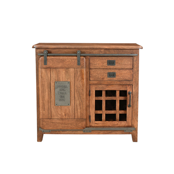 Jupiter Bar Cabinet, 2 drawer, 1 door(120 x 37 x 90cm)
