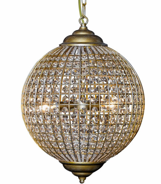 Chandelier Globe Glass Large (50 x 50 x 68cm)