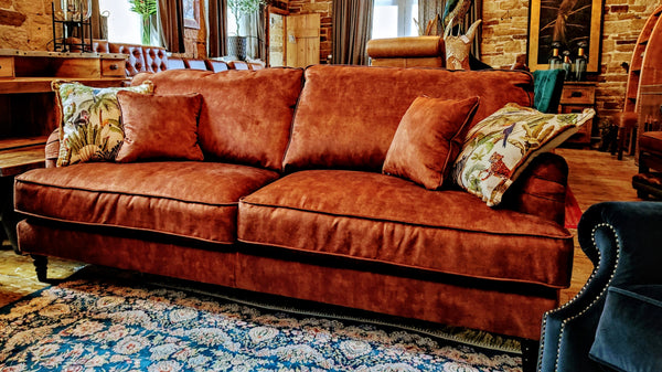 Howard 4 Seater Sofa Sublime Rust (210 x 96 x 97cm)