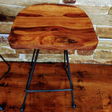 Bar Stool Mango Wood & Metal (43 x 34 x 76cm) DMAN