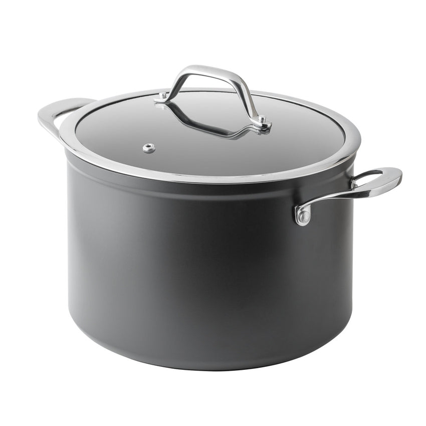 7 Litre Hard Anodised Stock Pot - Bluebird