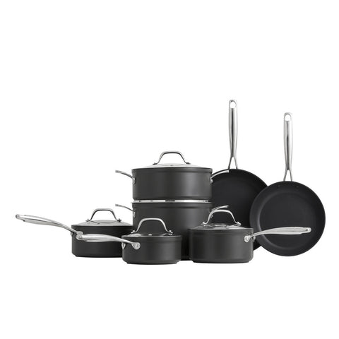 Hard Anodized Cookware Set - Bluebird