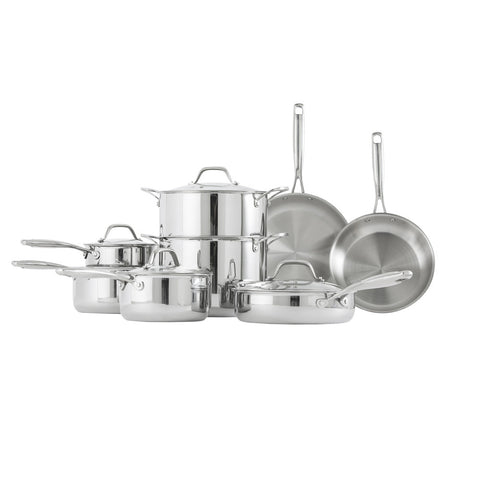 Stainless Steel Tri-Ply Cookware Set - Bluebird