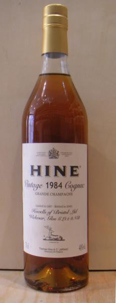 Hine 1984 Vintage Grand Champagne, Cognac Early Landed
