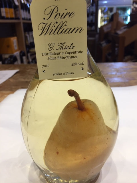 Poire William Eau de Vie 43% Abv, G Miclo70cl