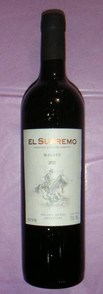 El Supremo Red 2013 Malbec