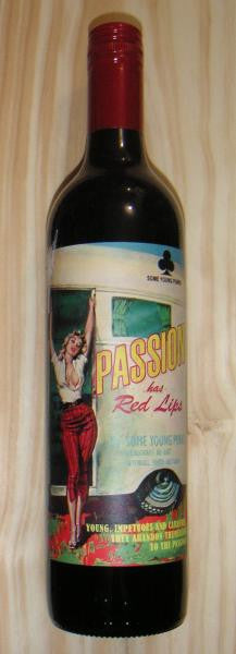 Passion Has Red Lips 2013 Cab/Shiraz SYPunks, S Ozz.