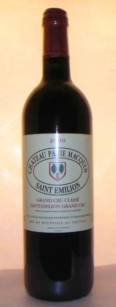 Chateau Pavie Macquin 2000 St Emilion Grand Cru Classe