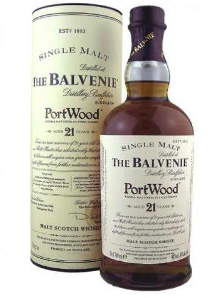 The Balvenie 21 YO Portwood cask single malt whisky