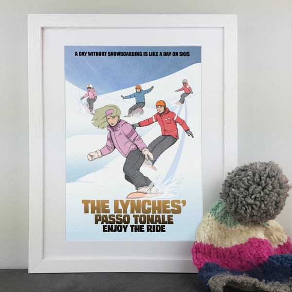A Family Snowboarding Print - cuddlepunch.me