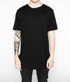 Premium Curved Hem T-Shirt in Black