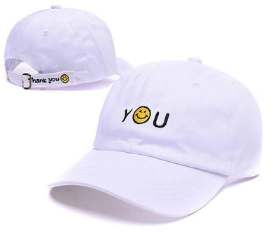 Hats - Smiley Face Thank You Cap - Longline Clothing