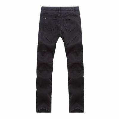Jeans - Skinny Fit Jeans With Panel Detailing - Longline Clothing