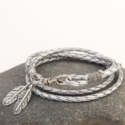 Jewellery - Feather Pendant Multi Bracelet