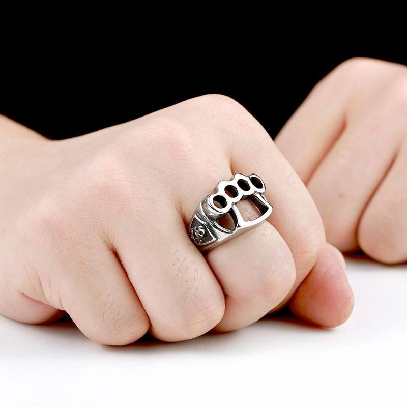 Knuckle duster ring longline clothing knuckle duster ring 7 mozeypictures Choice Image