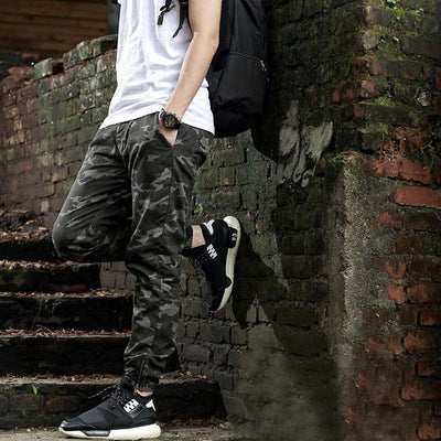 Pants - Casual Slim Fit Camo Pants - Longline Clothing