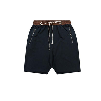 Pants - Drawstring Harem Drop-Crotch Shorts - Longline Clothing