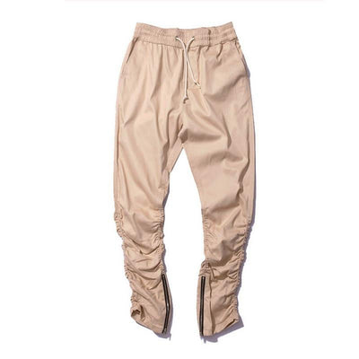 Pants - Skinny Fit Sweatpants With Ankle Zips - Longline Clothing