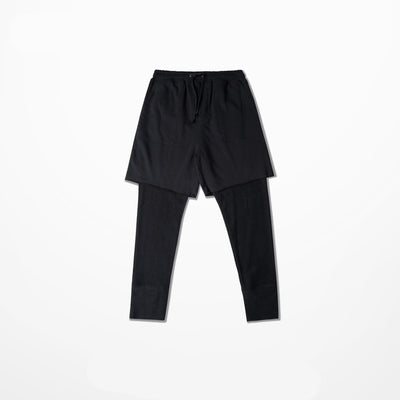Raw Cut Shorts with Thermal Layer Pants