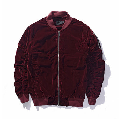Luxe Velour Bomber Jacket