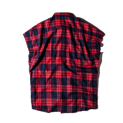 Plaid Lumberjack Sleeveless Shirt