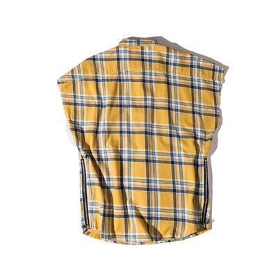 Oversized Plaid Lumberjack Sleeveless Shirt