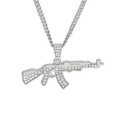 AK47 Gun Pendant Necklace