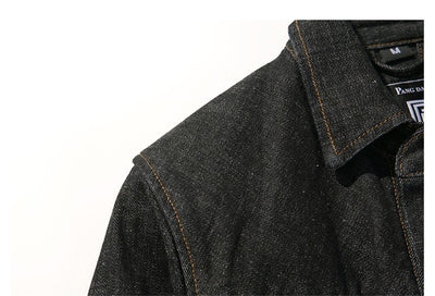 Denim Script Overshirt