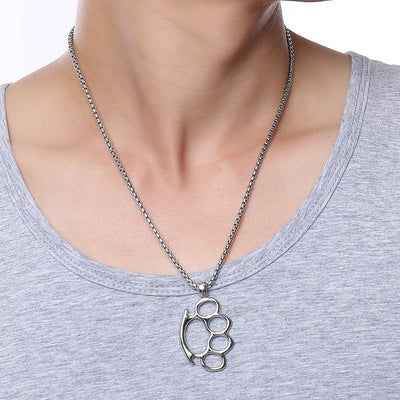 Knuckle Duster Pendant Necklace