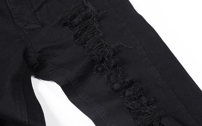 Black Pure Distressed Jeans