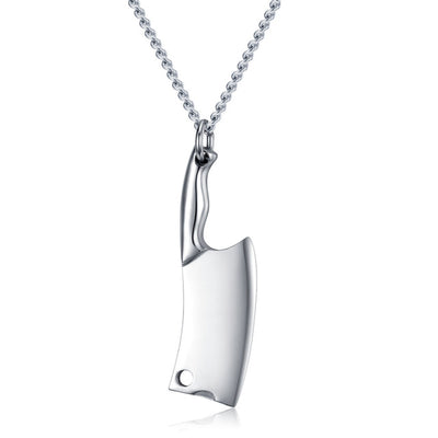 Butcher's Knife Pendant Necklace
