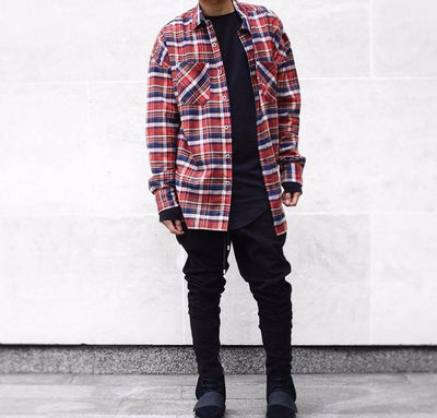 Plaid Lumberjack Shirt in Red