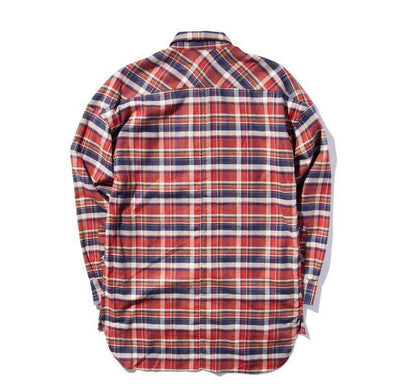 Shirts - Oversize Plaid Lumberjack Shirt In Red