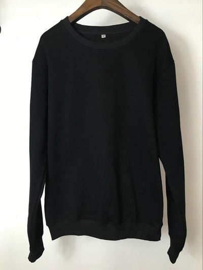 Sweatshirt - Premium Relaxed Pullover Sweatshirt In Midnight Black - Longline Clothing