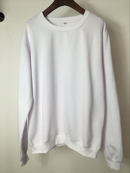 Sweatshirt - Premium Relaxed Pullover Sweatshirt In White - Longline Clothing