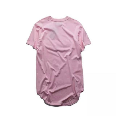 T-Shirts - Premium Curved Hem T-Shirt In Pink