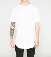 Premium Curved Hem T-Shirt in White