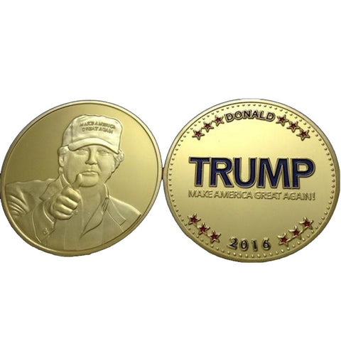 GOLD PLATED Trump celebratory coin set