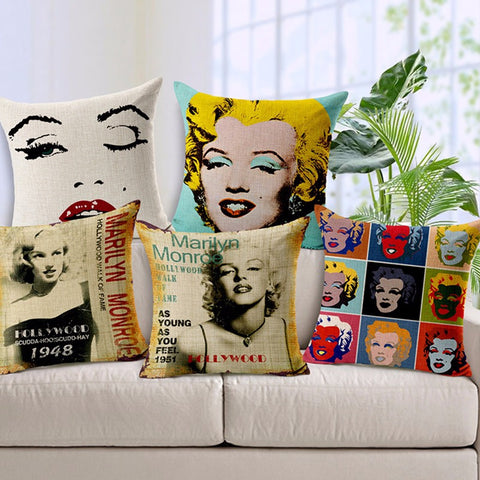 Marilyn Monroe Cushion Covers