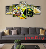 Green Day Packers 5 Piece Canvas