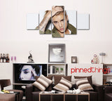 Justin Bieber 5 Piece Canvas