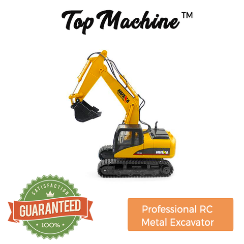 TopMachine™ - 1550 Channel Full Functional Professional RC Metal Excavator!