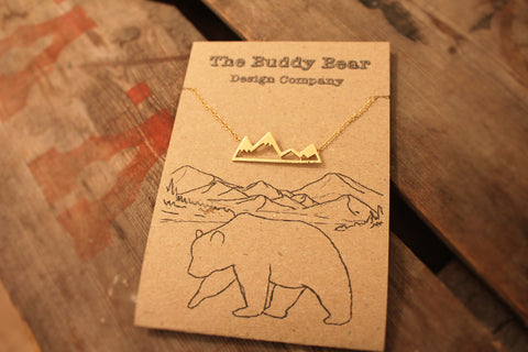 Gold Mountain Necklace  Jewellery, buddybeardesign, Buddy Bear Design  - Buddy Bear Design