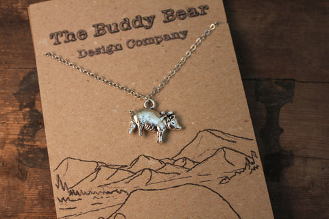 Pig with Bow Necklace  Jewellery, Buddy Bear Design, Buddy Bear Design  - Buddy Bear Design