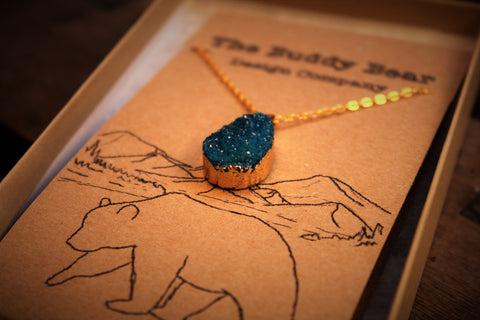 Blue Geode Necklace  Jewellery, Buddy Bear Design, Buddy Bear Design  - Buddy Bear Design
