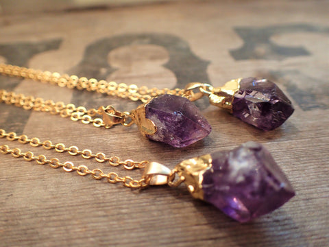 Purple Quartz Necklace  Jewellery, buddybeardesign, Buddy Bear Design  - Buddy Bear Design
