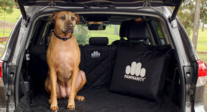 Dog Cargo Liner for SUV showing Storage bag