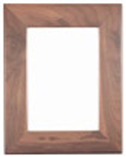 "Genuine Walnut Picture Frame 8 1/2""x11"" Custom"