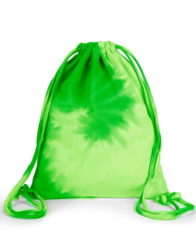 Tye Dye Tote Bag - Green Spiral